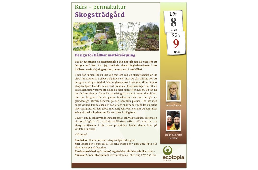 Kurs – permakultur  Skogsträdgård